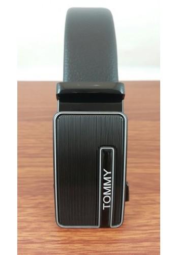 """1040 - 23  Мъжки универсален колан """"TOMMY"""" от естествена кожа в черно - автоматичен"""