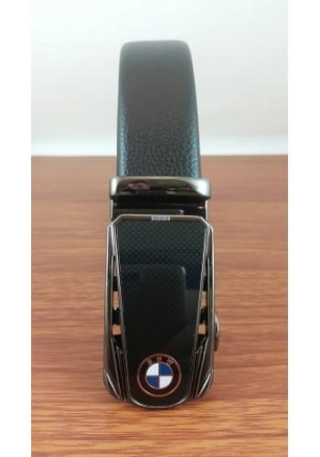 """1040 - 12  Мъжки универсален колан """"BMW"""" от естествена кожа в черно - автоматичен"""
