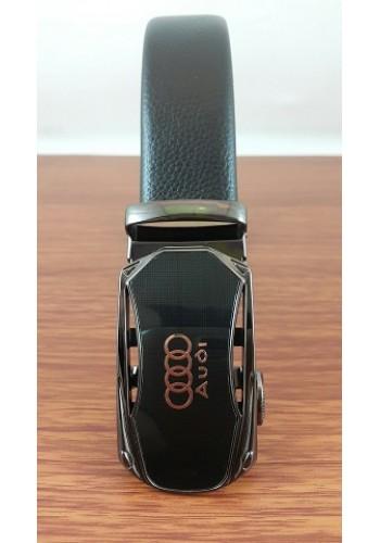 """1040 - 21  Мъжки универсален колан """"AUDI"""" от естествена кожа в черно - автоматичен"""