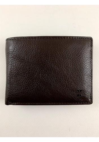 SM 8  Мъжки портфейл от естествена телешка кожа в кафяво с много отделения - LUX