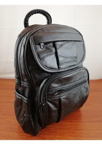 XN-9201  Дамска раница от фина ярешка кожа в черно ежедневен модел