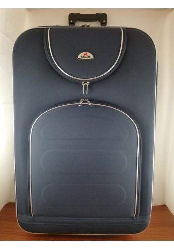 ST 104753 Текстилен куфар с външен механизъм олекотен - голям размер ''L'' в тъмно синьо