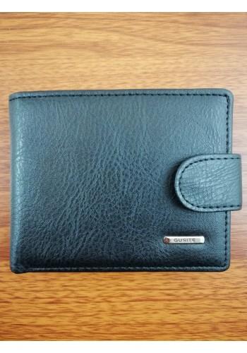SA 456-1  Мъжки портфейл от еко кожа в черно класически