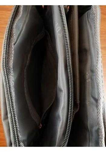 K 367 Мъжка текстилна чанта за през рамо и в ръка от импрегниран непромокаем плат в сиво