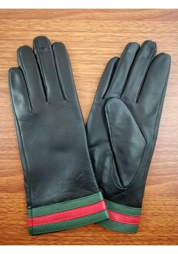 LUX 1682  Дамски ръкавици от луксозна естествена кожа в черно