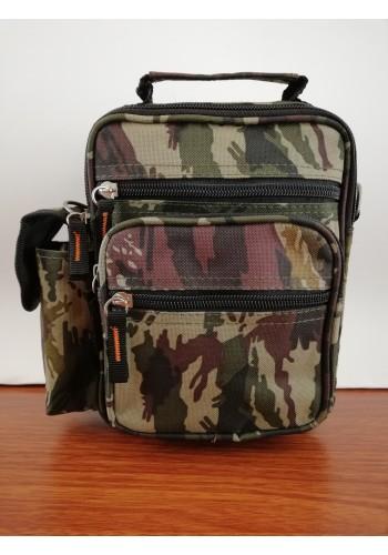 """S 6242-1 Мъжка текстилна - камуфлажна чанта """" MILITARY """" за през рамо и  в ръка от импрегниран плат универсална"""