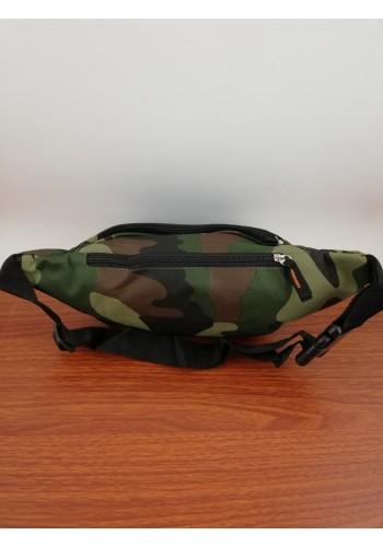 """S 258 Мъжка камуфлажна чанта """"MILITARY"""" за кръста - тип банан от импрегниран непромокаем плат"""
