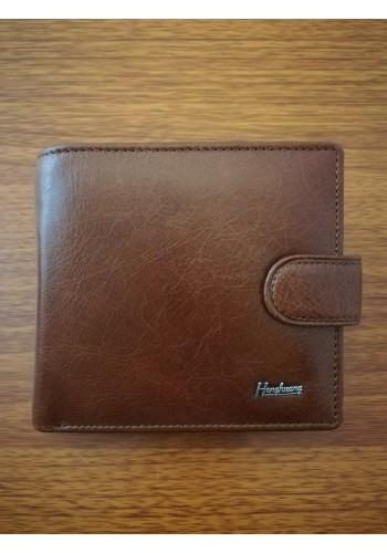 MS 31 Мъжки портфейл от естествена телешка кожа в кафяво с много отделения