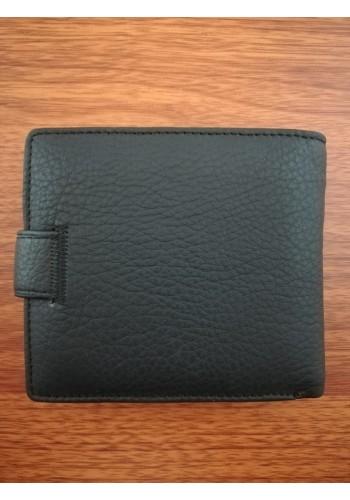 MS 31 Мъжки портфейл от естествена телешка кожа в черно с много отделения