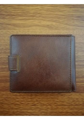 MS 34 Мъжки портфейл от естествена телешка кожа в кафяво