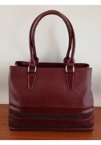 S 034 Дамска чанта от висококачествена еко кожа в БОРДО