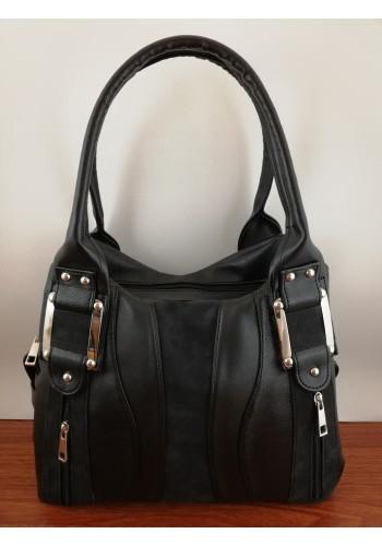 S 036 Дамска чанта от висококачествена еко кожа в ЧЕРНО