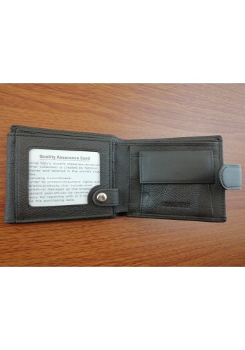 SA 1059  Мъжки портфейл от естествена телешка кожа в кафяво с много отделения