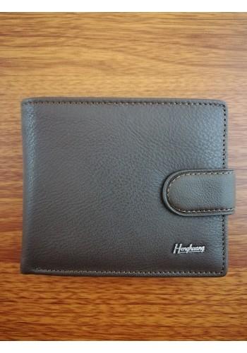 S 1301  Мъжки портфейл от естествена телешка кожа в кафяво