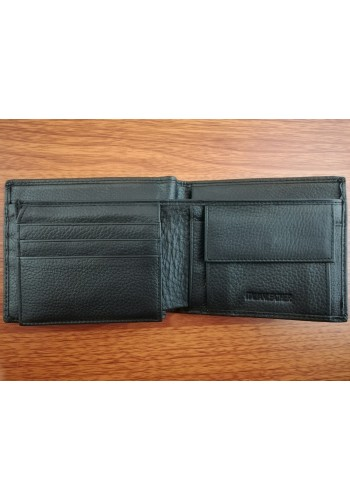 SE 61480  Мъжки портфейл от естествена телешка кожа в черно