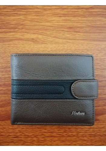 S 06 - 1K Малък мъжки портфейл от естествена телешка кожа в кафяво