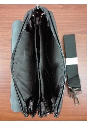 """S 6002-2E Мъжка чанта """"EXCLUSIVE"""" от естествена кожа изчистен модел за през рамо с три прегради"""