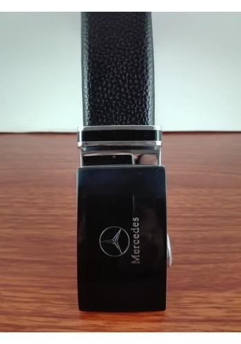"""1040 - 22  Мъжки универсален колан """"MERCEDES"""" от естествена кожа в черно - автоматичен"""