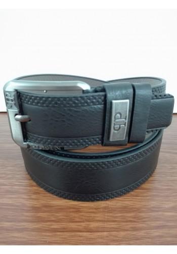 1055 - 06  Мъжки колан от висококачествена еко кожа в черно универсален