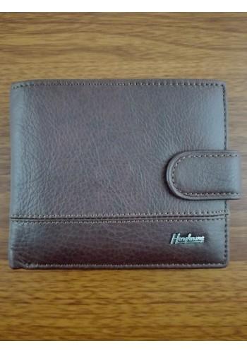 S 1301-7  Мъжки портфейл от естествена телешка кожа в кафяво