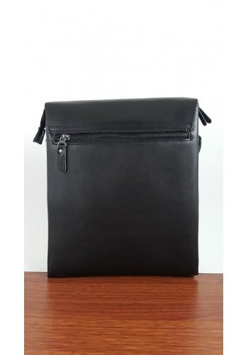 Y 6002-4V Мъжка чанта от естествена кожа Yeso за през рамо с вафлен ефект