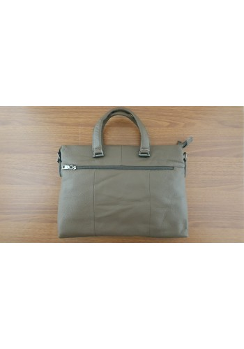 S 8171 Мъжка бизнес чанта за документи и лаптоп от висококачествена естествена кожа- телешки бокс кафява за през рамо и в ръка