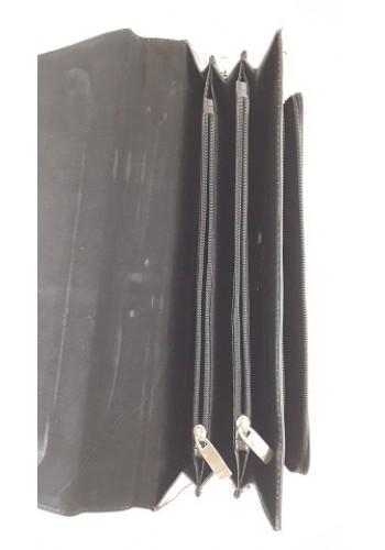 SD 41-0  Мъжка бизнес чанта за документи от висококачествена еко кожа  черна за през рамо и в ръка - класически модел