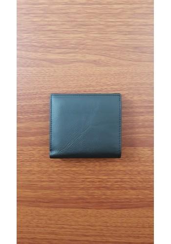 S 409 Малко дамско портмоне от естествена кожа в черно с външен монетник
