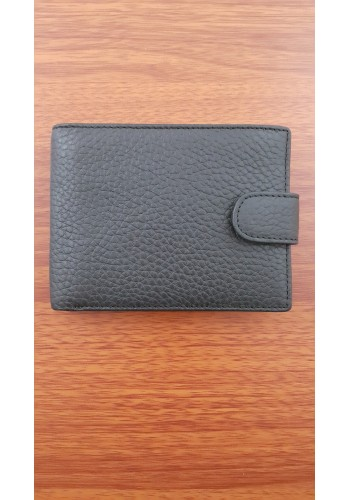 SM 19  Мъжки портфейл от естествена кожа в черно с визитник
