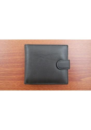 SM 53 Мъжки портфейл от естествена кожа в черно с много отделения