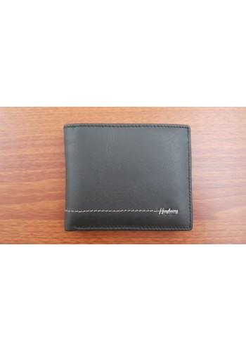 S 60546 Мъжки портфейл от естествена кожа с щипка в черно