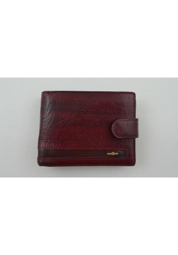 Мъжки портфейл COSSET от италианска естествена кожа в цвят БОРДО с много отделения