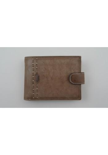 Мъжки портфейл COSSET от италианска естествена кожа в цвят КАМЕЛ-БЕЖОВО с много отделения