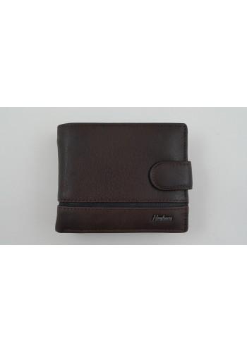 SA 1059-1 Мъжки портфейл от естествена телешка кожа в кафяво с много отделения