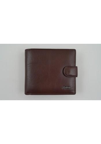 SM 53  Мъжки портфейл от естествена кожа в кафяво с много отделения