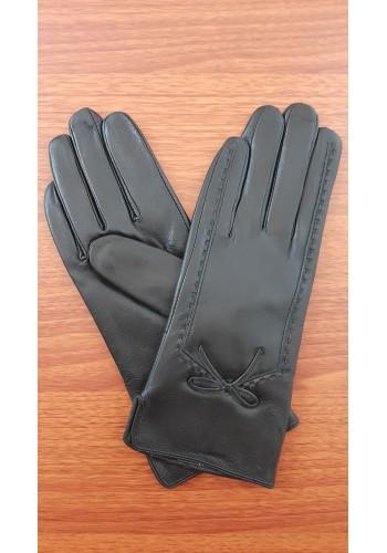S 1509 - Дамски ръкавици от естествена кожа в черно