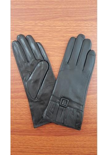 BT 202 - Дамски ръкавици от естествена кожа в черно