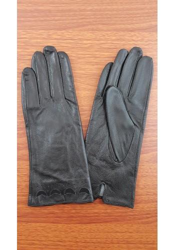 S 1526 - Дамски ръкавици от естествена кожа в черно