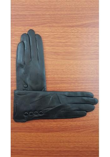S 019 - Дамски ръкавици от естествена кожа в черно