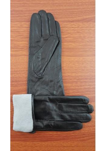 S 1588 - Дамски ръкавици от естествена кожа в черно