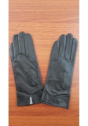 S 1516 - Дамски ръкавици от естествена кожа в черно