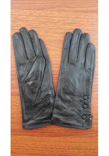 S 1488 - Дамски ръкавици от естествена кожа в черно