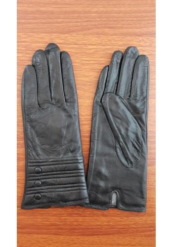 S 1483 - Дамски ръкавици от естествена кожа в черно