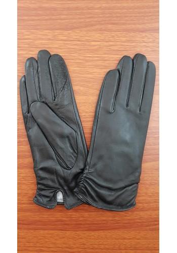 S 1066 - Дамски ръкавици от естествена кожа в черно