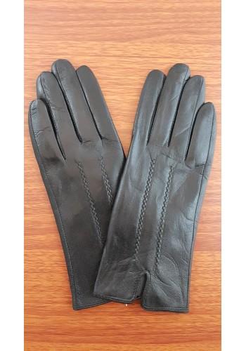 S 002 - Дамски ръкавици от естествена кожа в черно