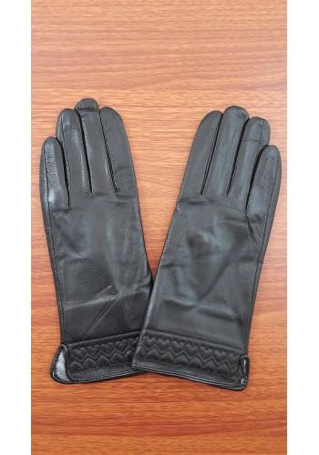 S 1567 - Дамски ръкавици от естествена кожа в черно
