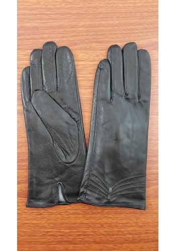 S 1659 - Дамски ръкавици от естествена кожа в черно