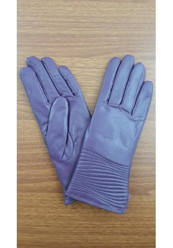 S 044 - Дамски ръкавици от естествена кожа в лилаво