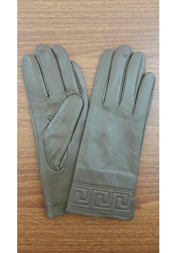 S 1485 - Дамски ръкавици от естествена кожа в  кафяво