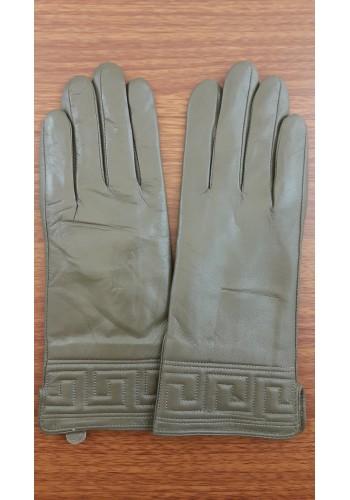 S 1485 - Дамски ръкавици от естествена кожа в тъмно кафяво